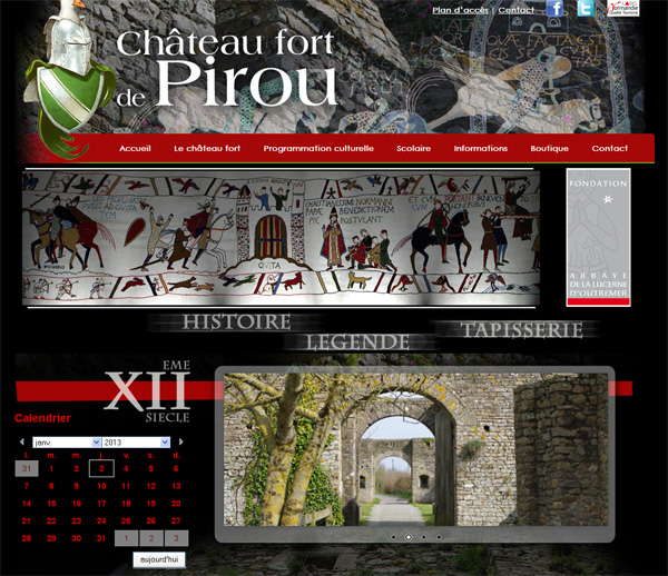 creation site internet chateau fort