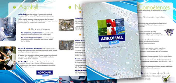 Très plaquette présentation association - Lapilazuli - création  CX93