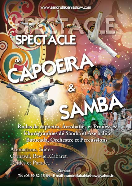 Flyers spectacle Capoeira et samba