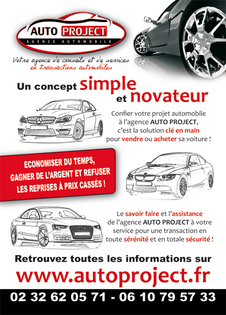 Flyer auto project lapilazuli cr ation site internet for Garage pour vendre ma voiture