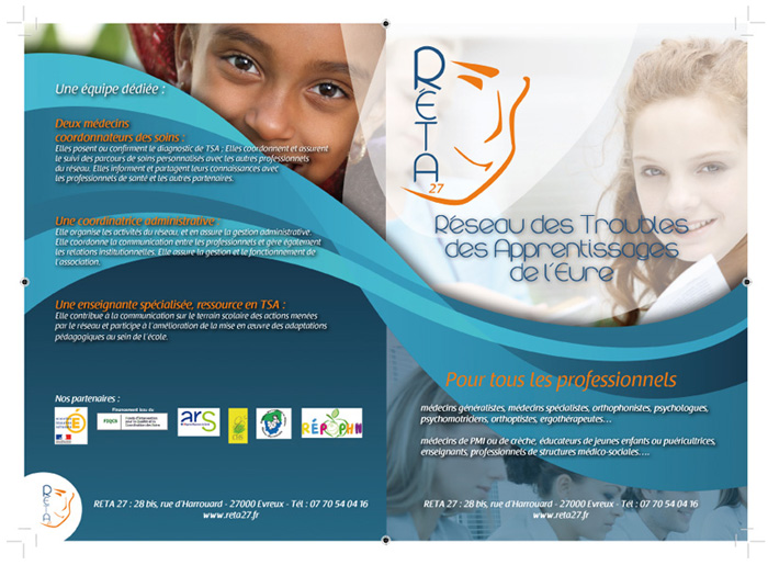 Developpement plaquette institutionnelle pour association